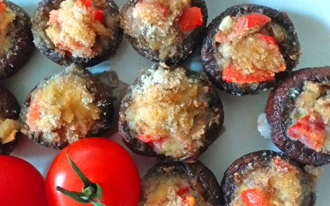 Klein und fein – gefüllte Champignons