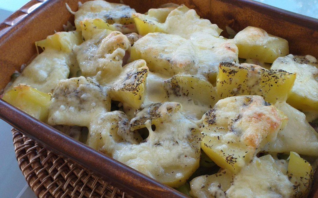 Kartoffelauflauf mit grünen Bohnen