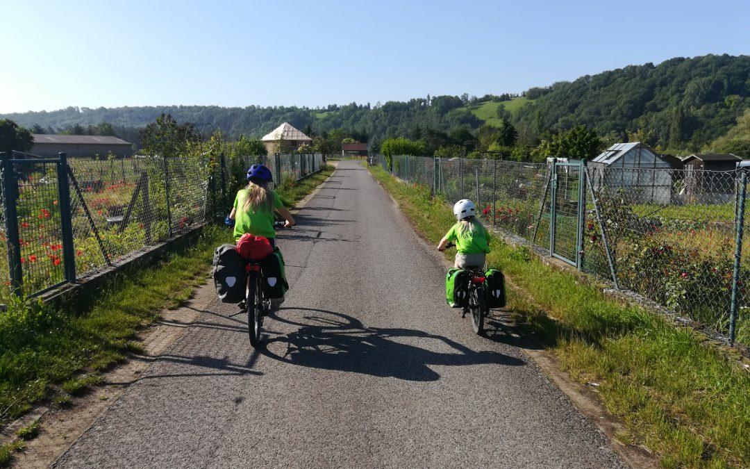 Vom Regen in die Sonne und zurück – eine Familienradtour durch Franken