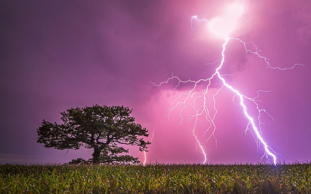 Vorsicht bei Blitz und Donner!